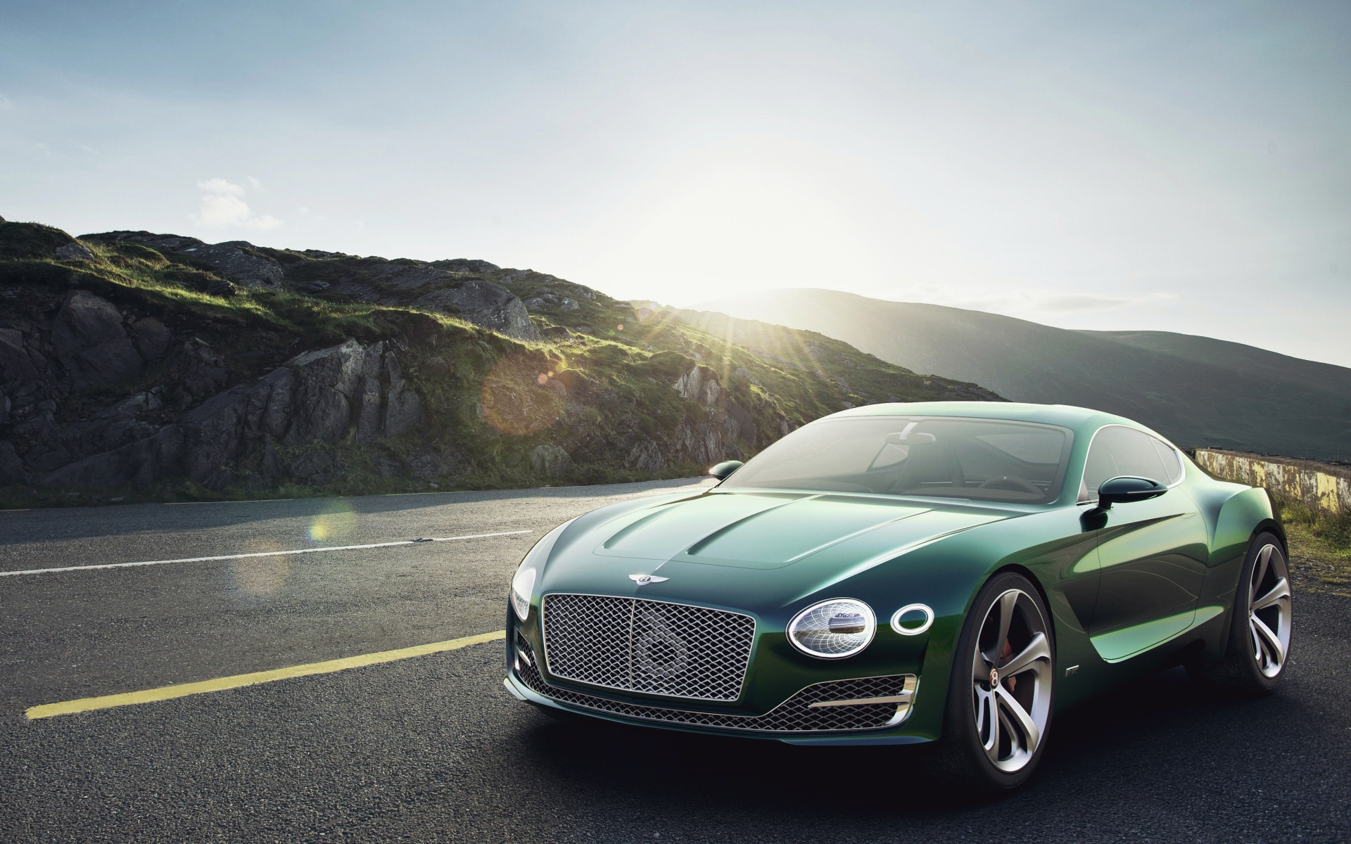 Green Bentley Car Background