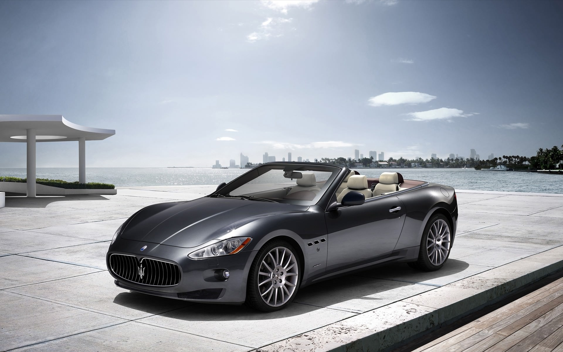 Maserati Black Car Background