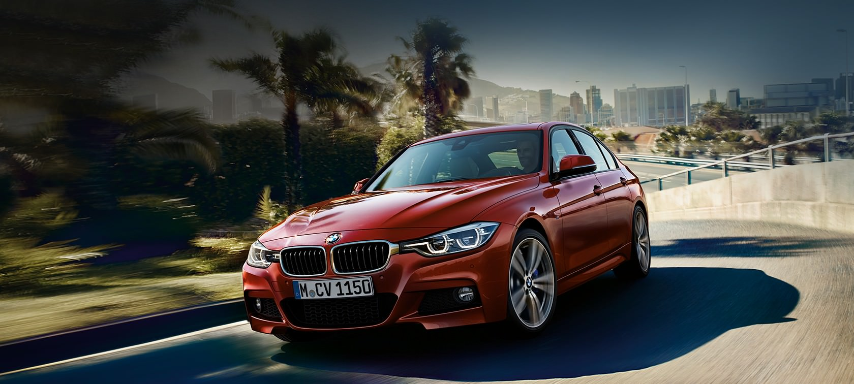 Red BMW Car Background
