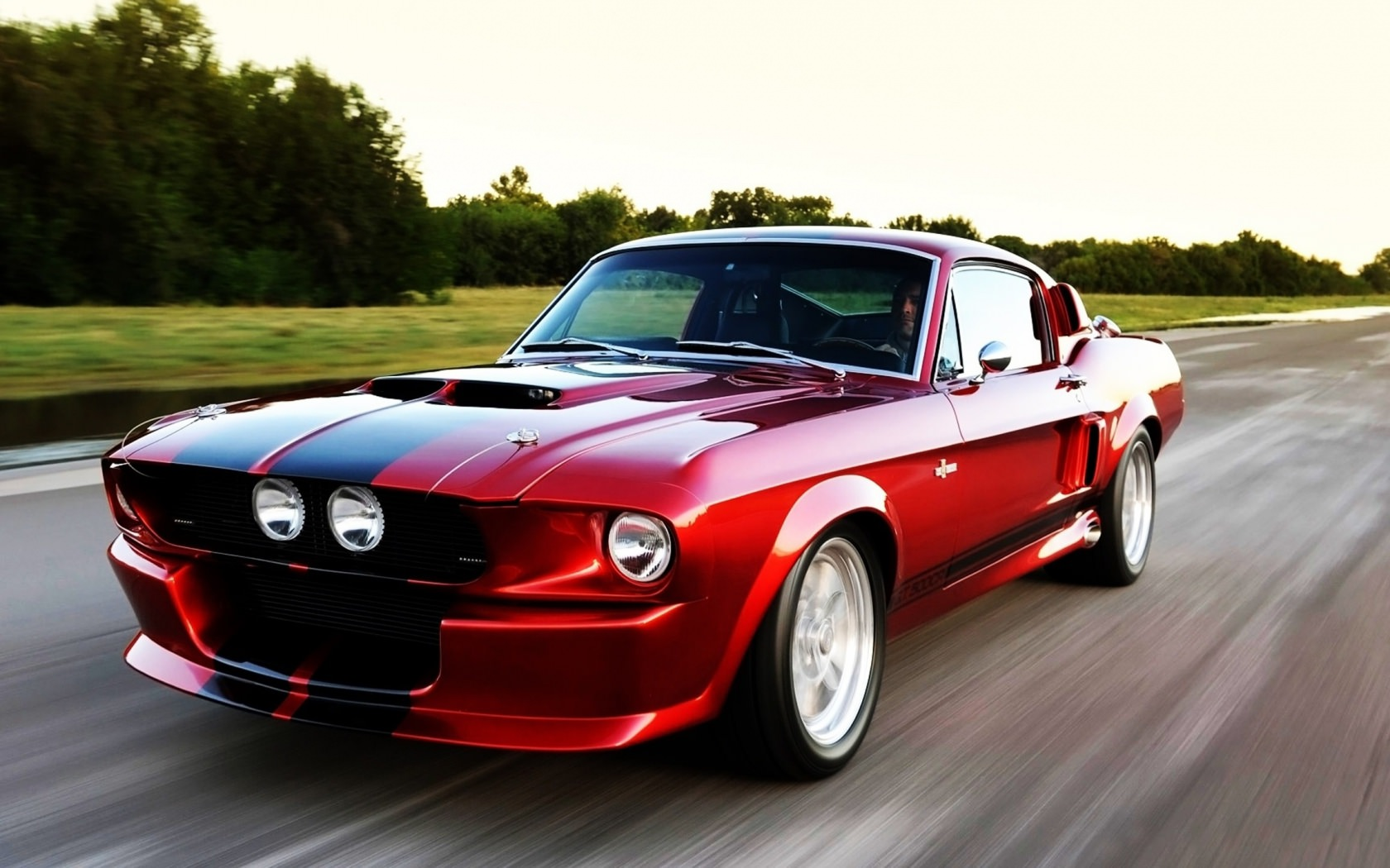 Red Ford Mustang Background