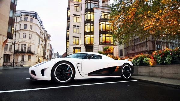 White Agera Car Background