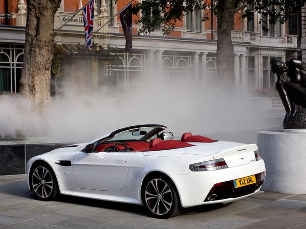 White Aston Martin Car Background