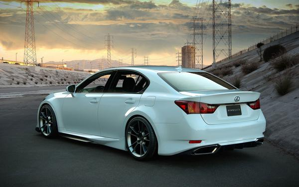White Lexus Car Background