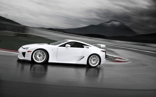 White Lexus Vehicle Background
