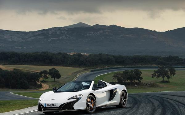 White McLaren Car Background