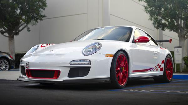 White Porshe Car Background