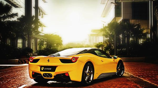 Yellow Ferrari Car Backgrounds