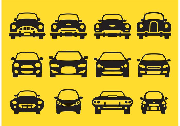 Car Silhouette Icons1