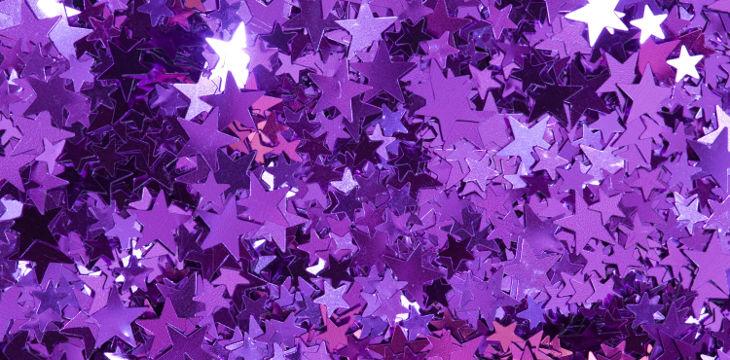 Purple Glittering Background Ideas