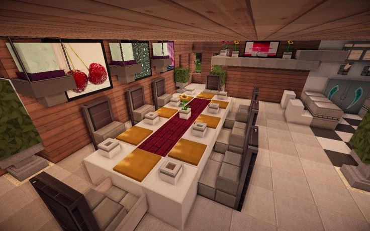 22 mine craft kitchen designs decorating ideas design for Minecraft dining room designs