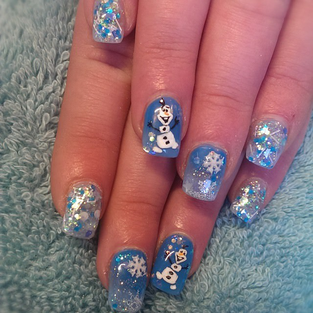 Christmas Nails Disney Nail Design