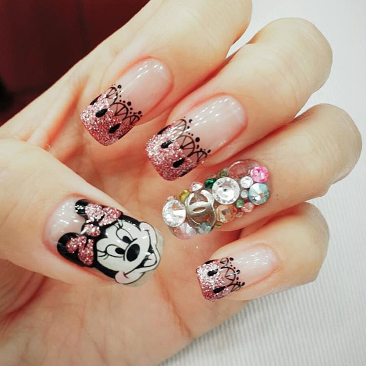 Gel Disney Nail Design