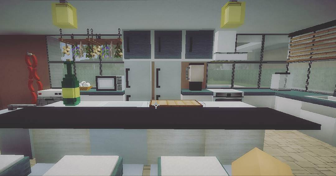 Exceptional House Minecraft Kitchen Design
