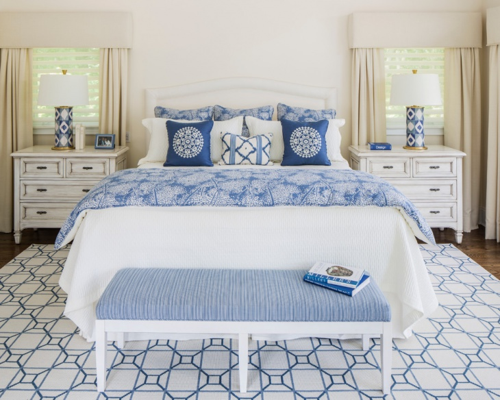 beach style bedroom tiles with pattern