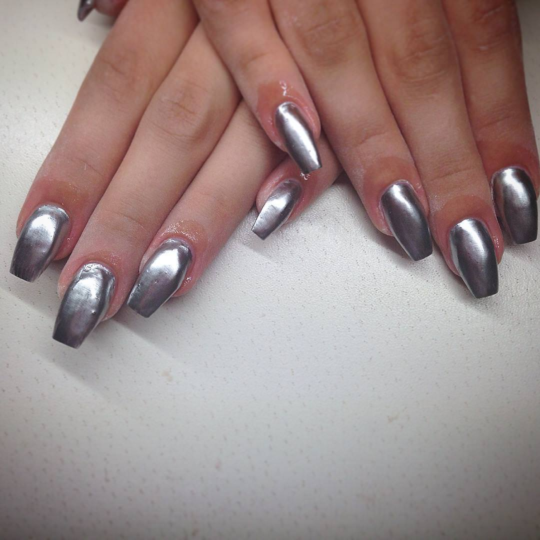 38+ Silver Nail Designs | Nail Designs | Design Trends - Premium PSD ...