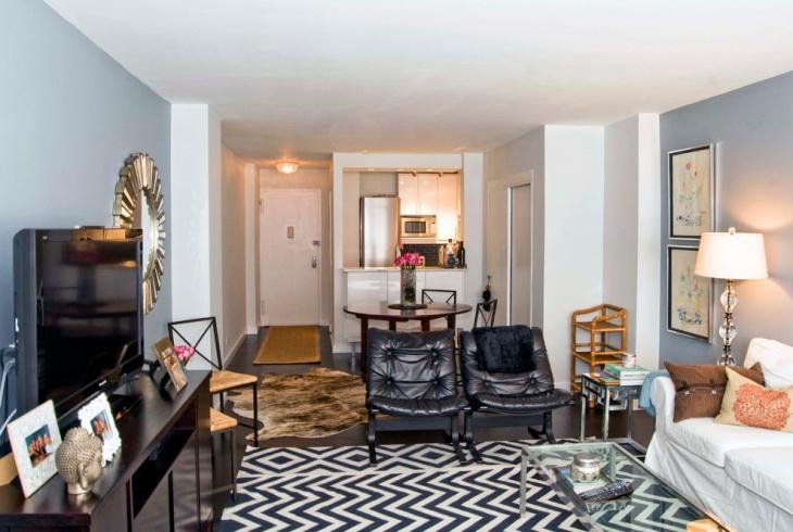 zig zag designed living room floor rug