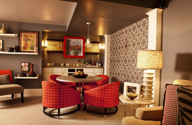 colorful design with pattern furniture
