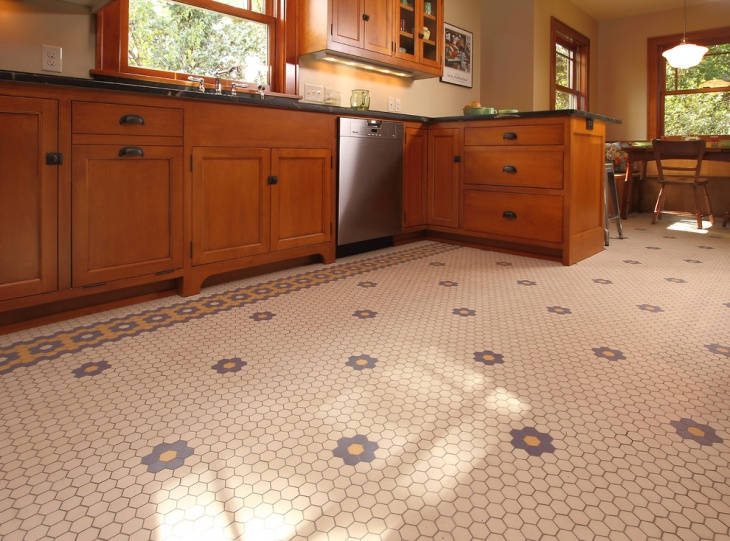 Vintage Hexagon Floor Design