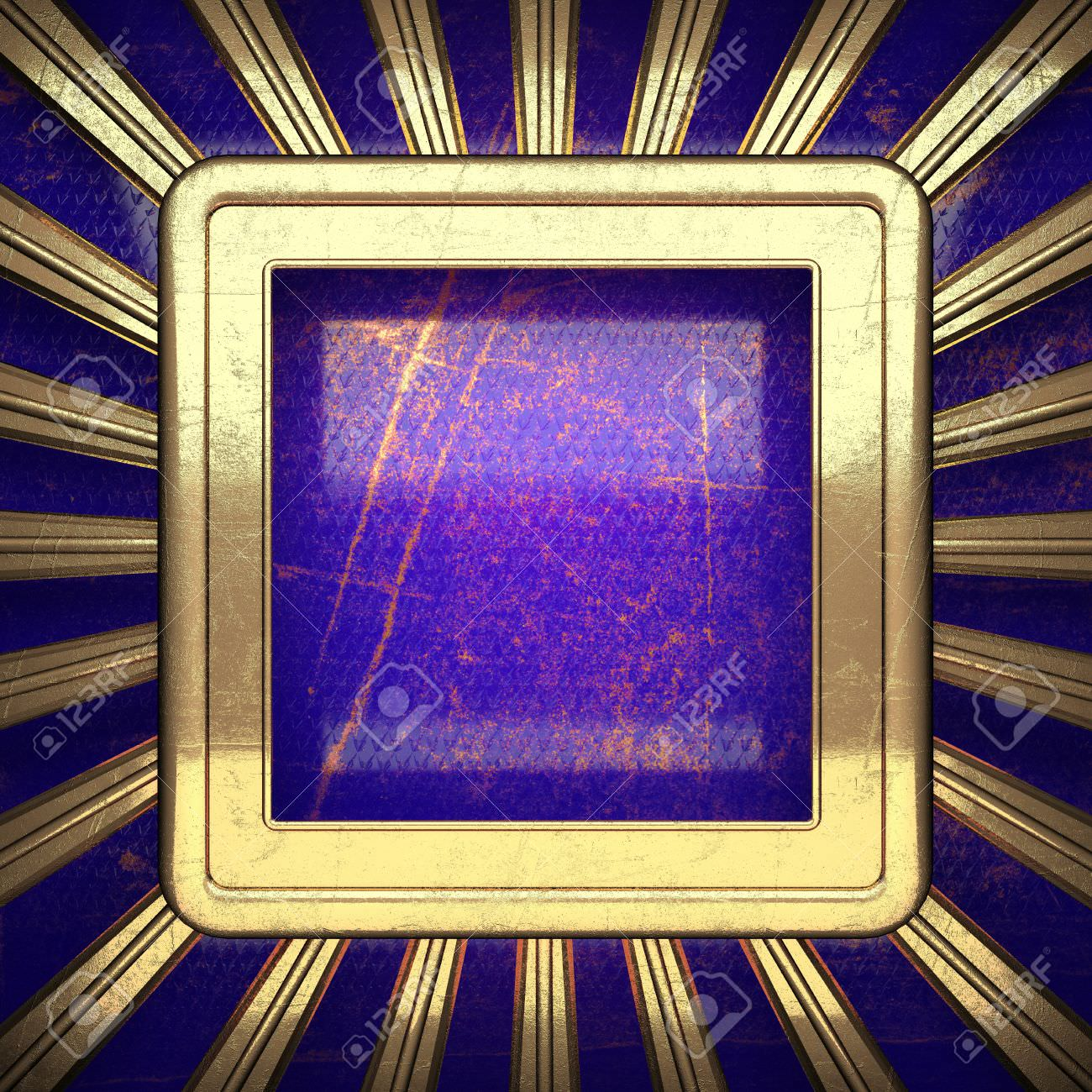 Blue and Gold Background
