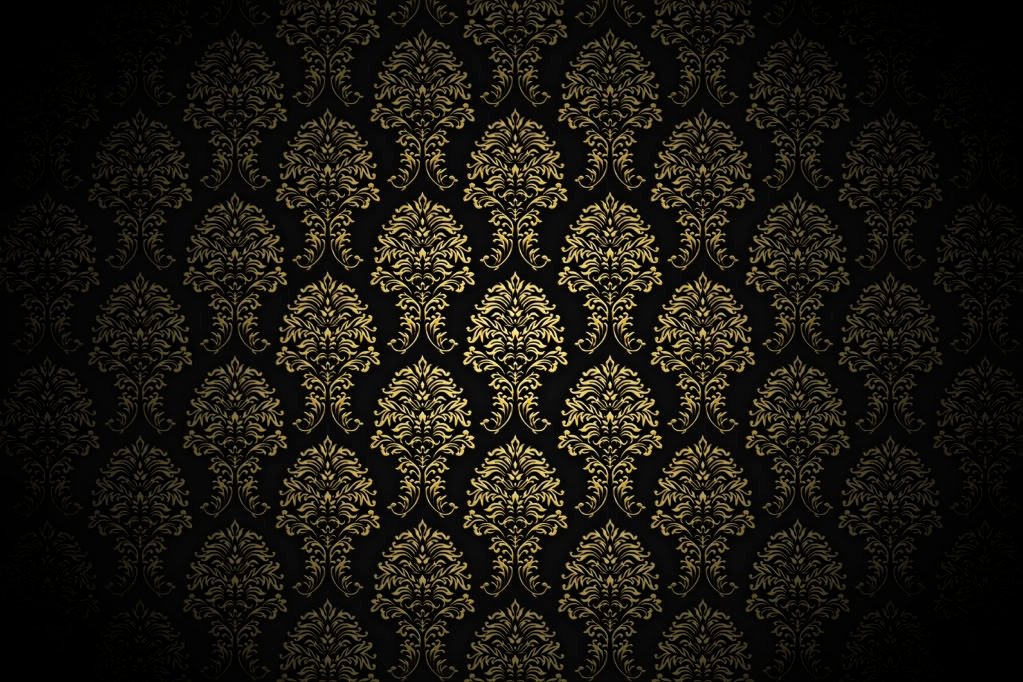 Dark Gold Pattern Background