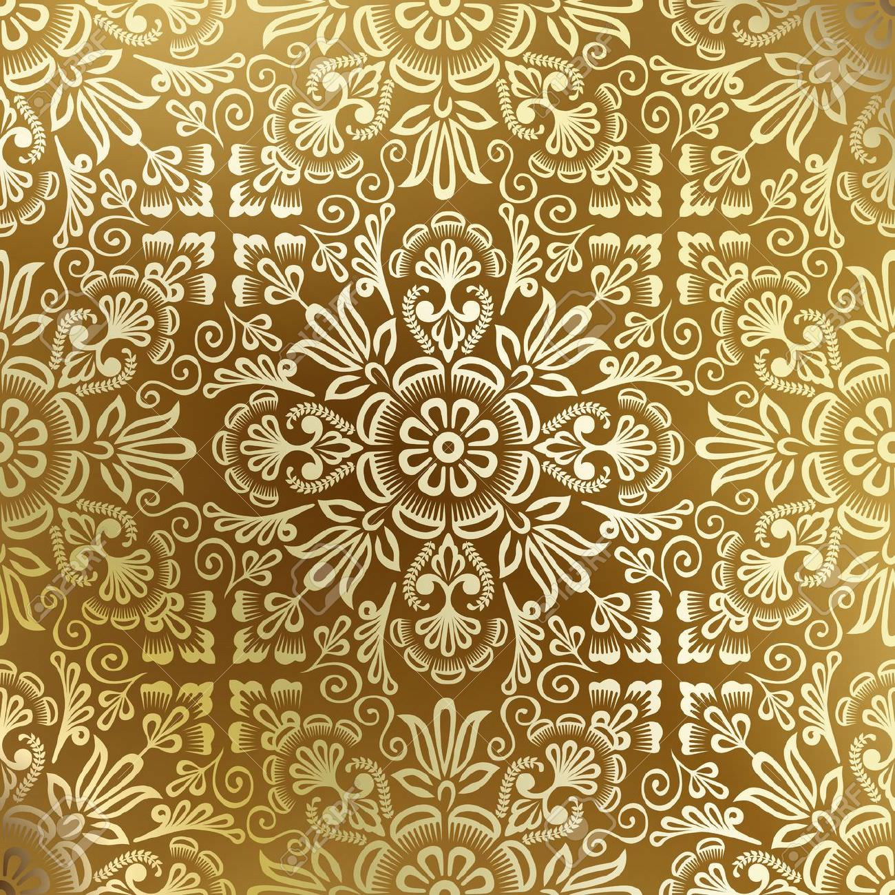 Elegant Gold Damask Background