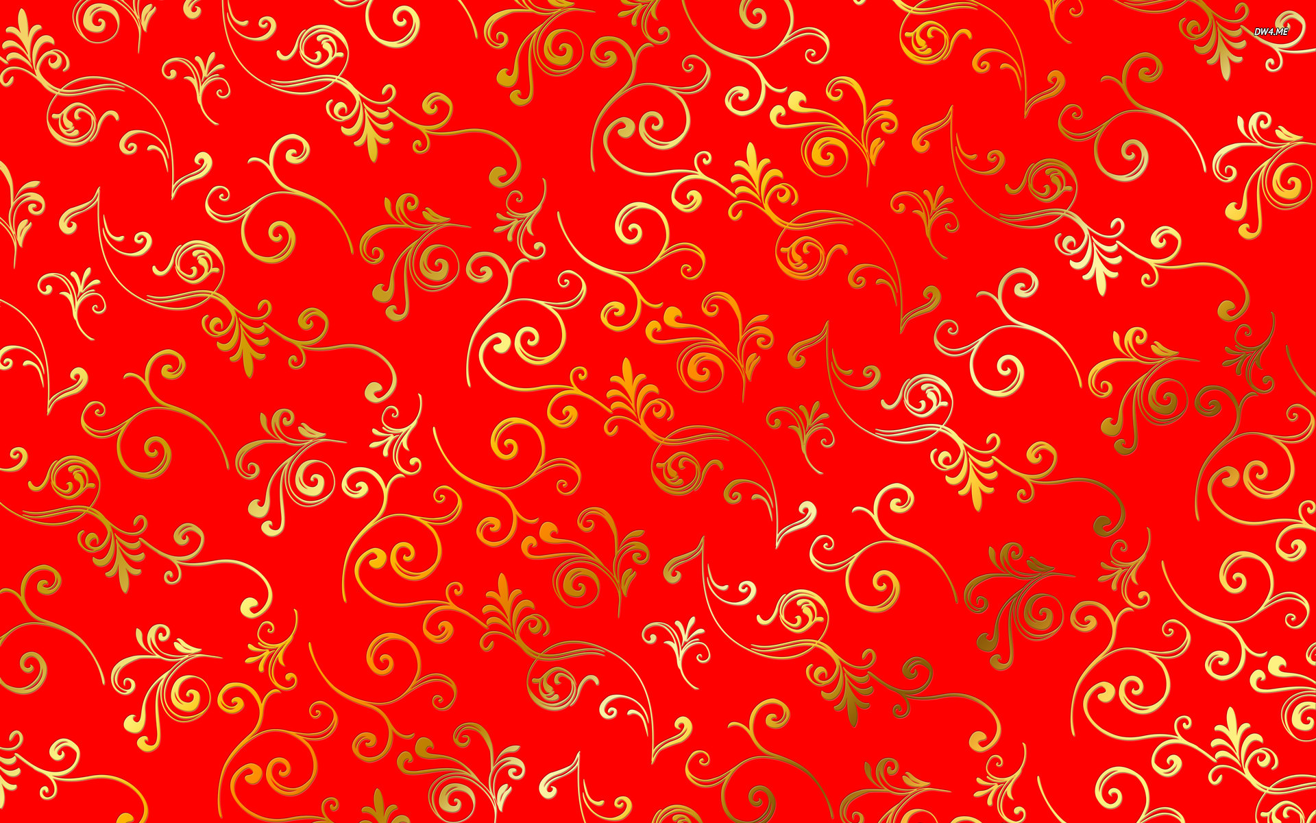 Golden Swrils Pattern Background