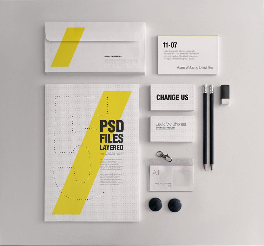 Corporate Stationery Mockup Design