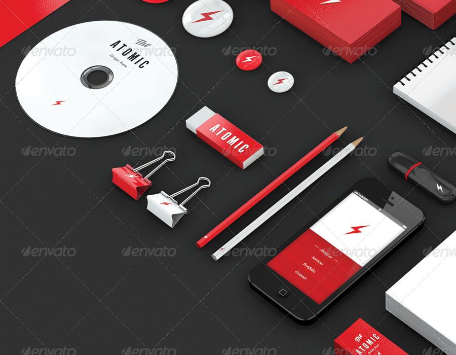 Flat Stationary Branding Mockup Ideas