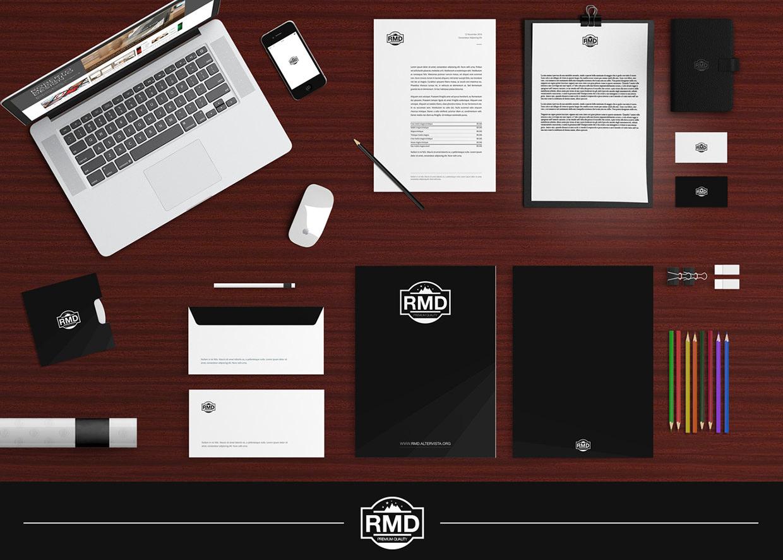 Office Stationary Branding Mockup Design