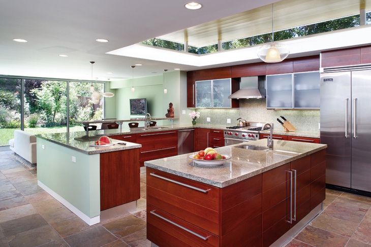 Spacious Kitchen Remodel Idea