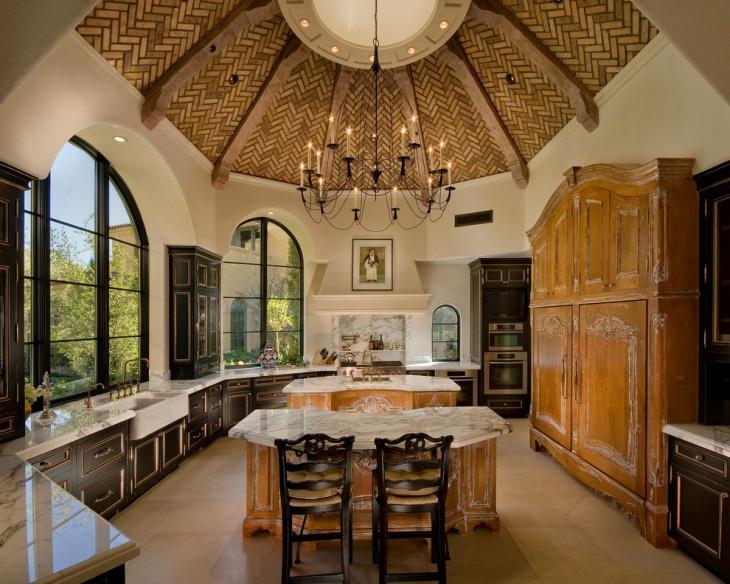 Mediterranean Style Vintage Kitchen