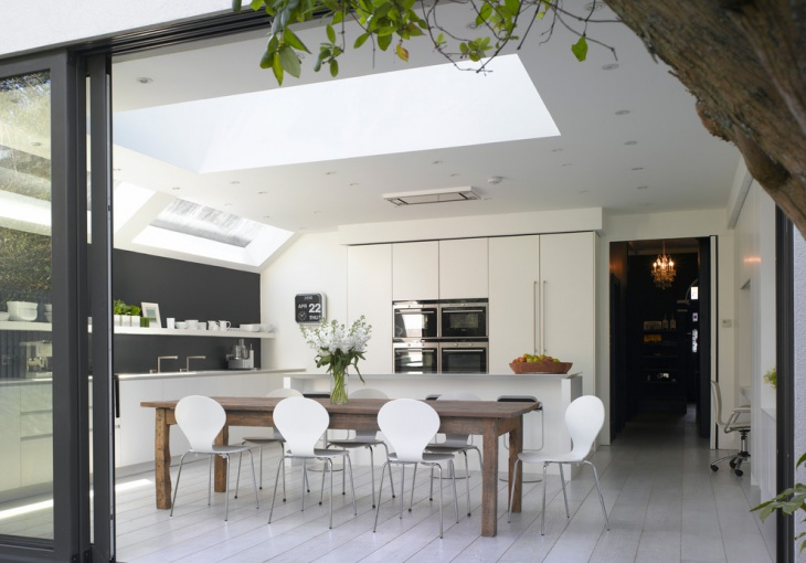 Open Top Spacious White Kitchen