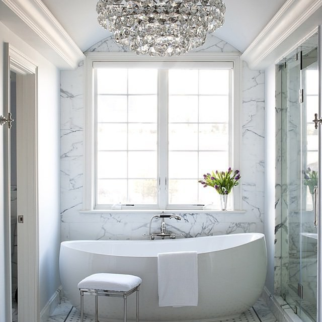 white Bath Rooms Design