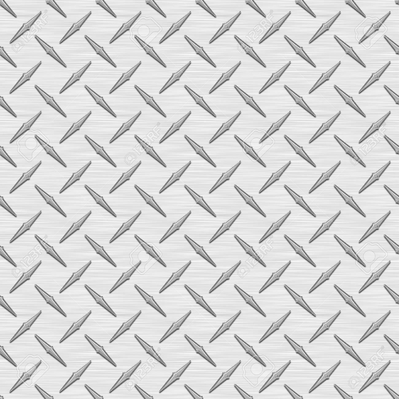 Silver Diamond Plate Texture