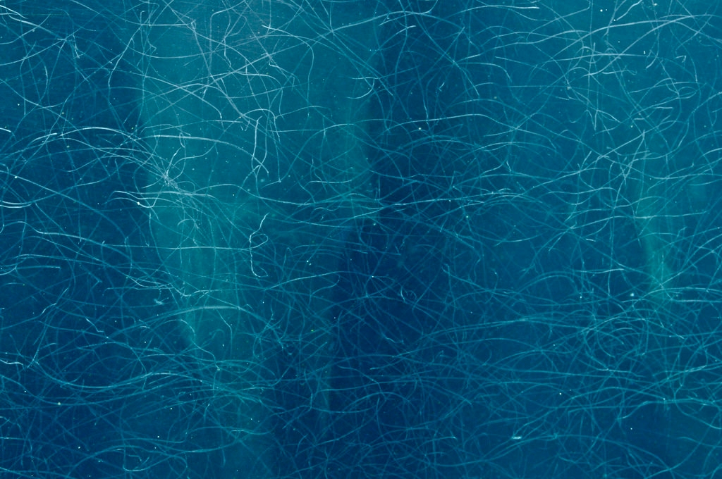 blue scratched glass texture