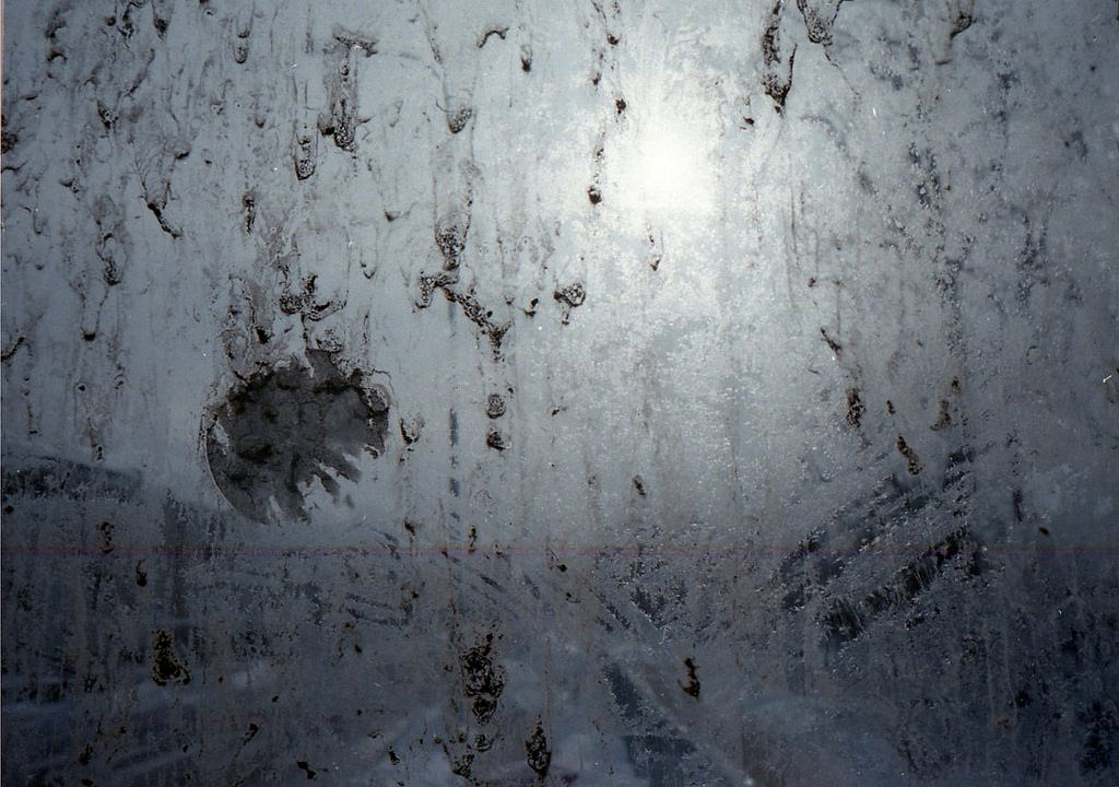 Fogged Glass With Hand Print