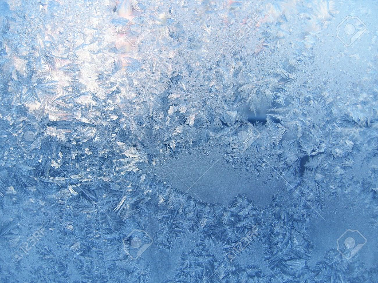 frosty winter window texture