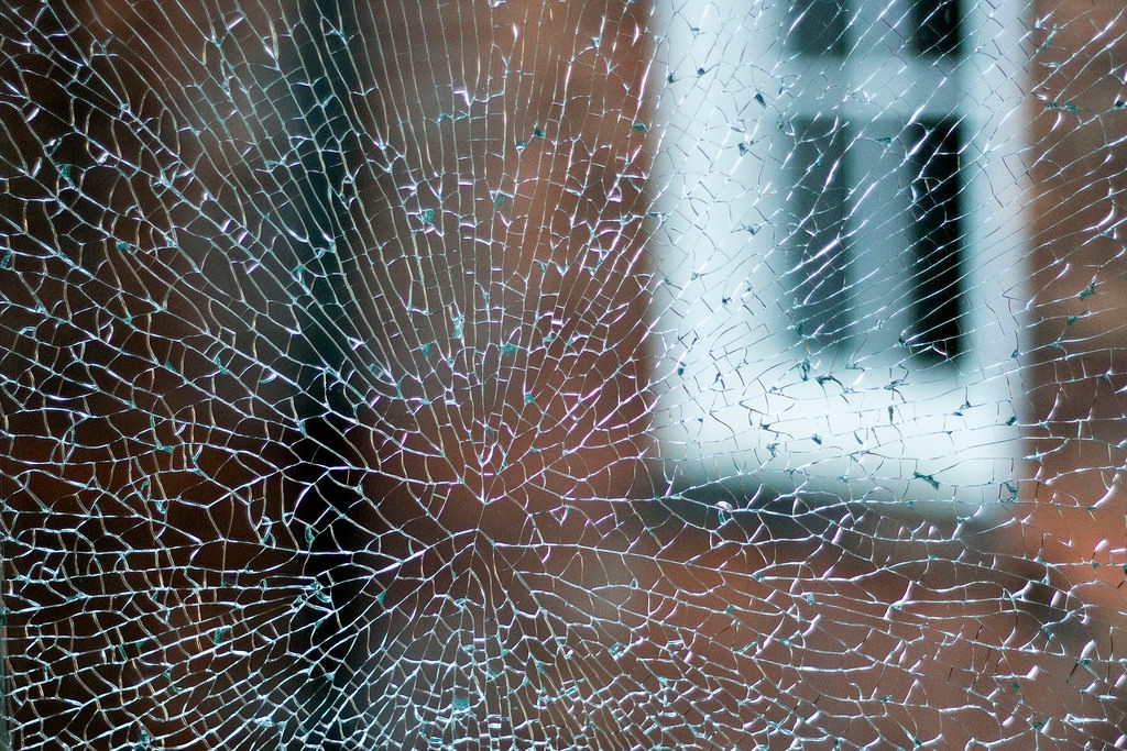 Cracked and Shattered Glass Texture