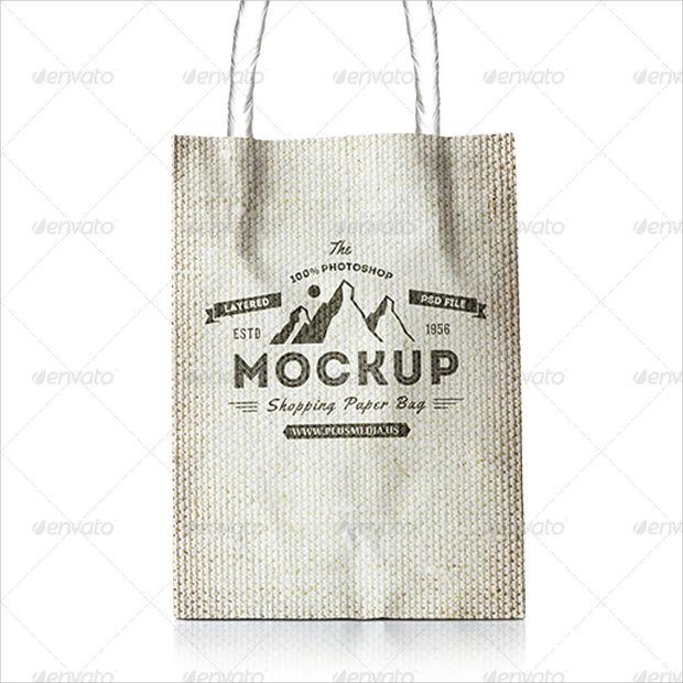 Jute Shopping Bag Mockup