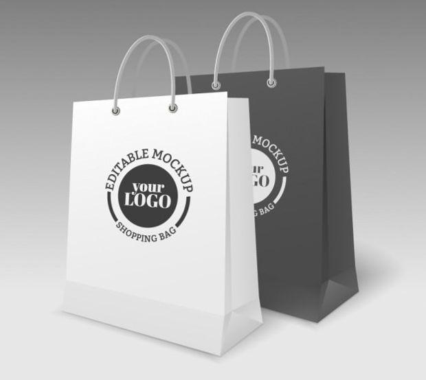 Editable Bag Mockup Template