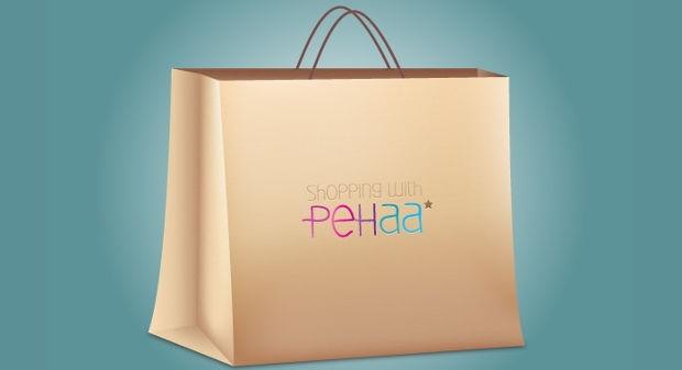 Paper Shopping Bag PSD Mockup