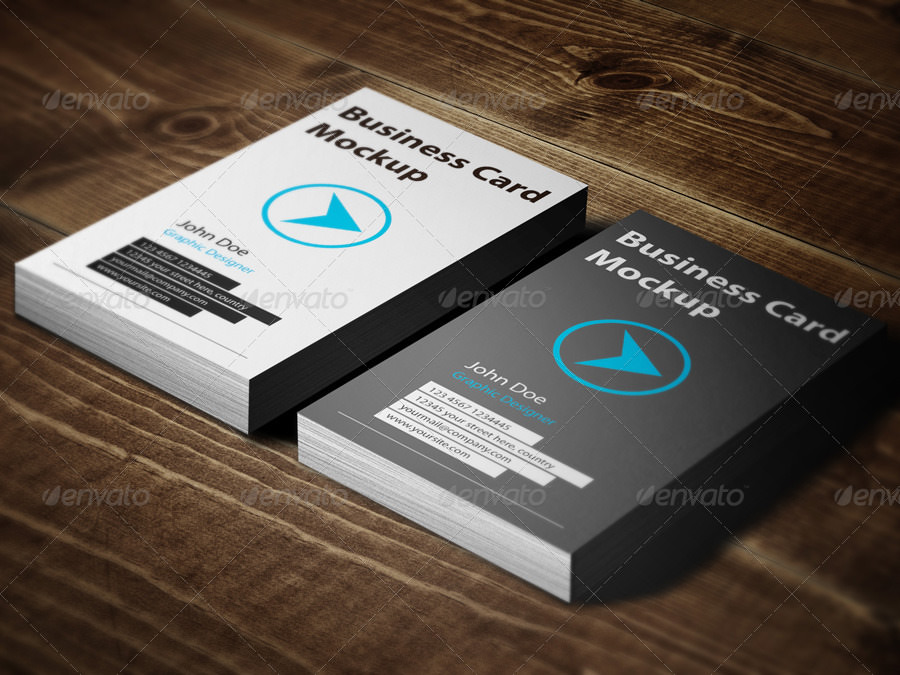 Custom Business Card Mockup Display