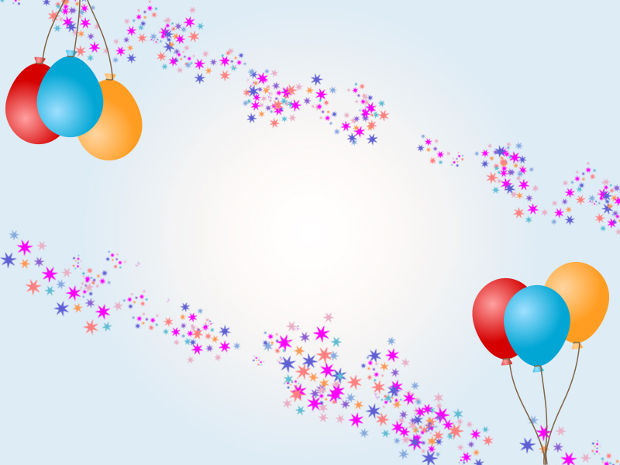 birthday balloons background
