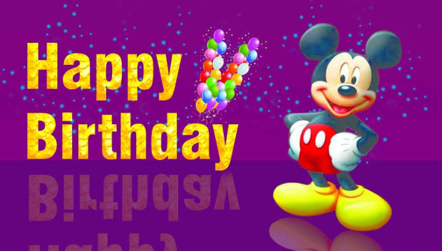 Mickey Mouse Happy Birthday Background