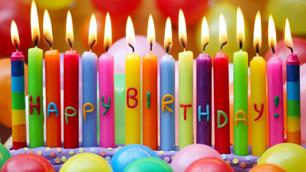 happy birthday candles background design