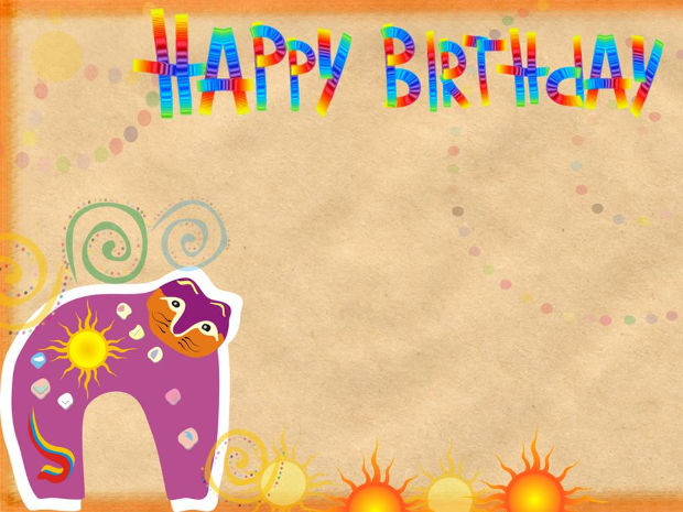 happy birthday funny background