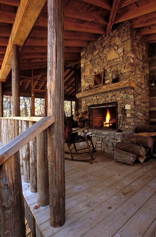 34 rustic deck designs home designs design trends for Rustic covered decks