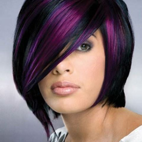 short bob hairstyles in color