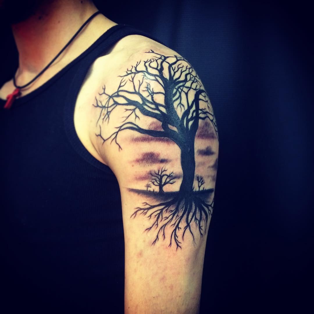 35 tree tattoo designs tattoo designs design trends. Black Bedroom Furniture Sets. Home Design Ideas