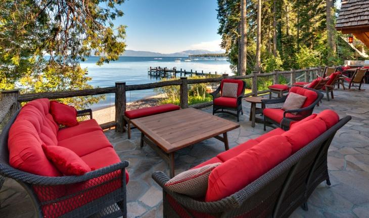 rustic deck furniture design